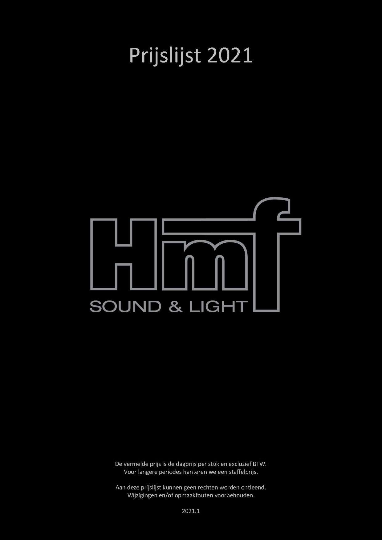 HMF Verhuur Prijslijst
